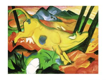 Reprodukce - Expresionismus - Gelbe Kuh, Franz Marc